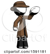 Ink Detective Man Holding Football Up