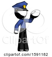 Ink Police Man Holding Football Up