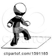 Ink Clergy Man On Postage Envelope Surfing