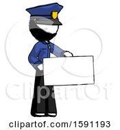 Ink Police Man Presenting Large Envelope