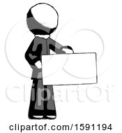 Ink Clergy Man Presenting Large Envelope