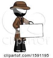 Ink Detective Man Presenting Large Envelope