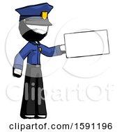 Ink Police Man Holding Large Envelope