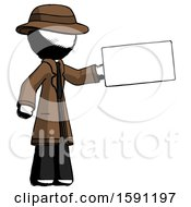 Ink Detective Man Holding Large Envelope