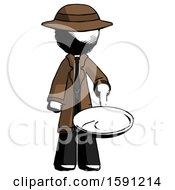 Poster, Art Print Of Ink Detective Man Frying Egg In Pan Or Wok