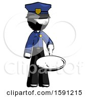 Ink Police Man Frying Egg In Pan Or Wok