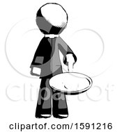 Ink Clergy Man Frying Egg In Pan Or Wok