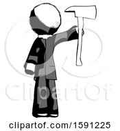 Ink Clergy Man Holding Up Red Firefighters Ax