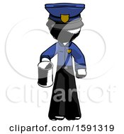 Ink Police Man Begger Holding Can Begging Or Asking For Charity