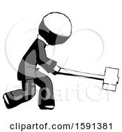 Ink Clergy Man Hitting With Sledgehammer Or Smashing Something