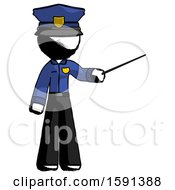 Ink Police Man Teacher Or Conductor With Stick Or Baton Directing
