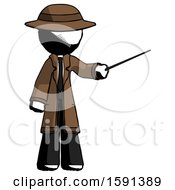 Ink Detective Man Teacher Or Conductor With Stick Or Baton Directing