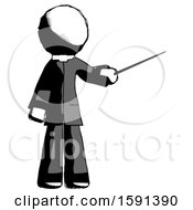Ink Clergy Man Teacher Or Conductor With Stick Or Baton Directing