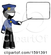 Ink Police Man Giving Presentation In Front Of Dry Erase Board