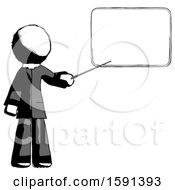 Ink Clergy Man Giving Presentation In Front Of Dry Erase Board