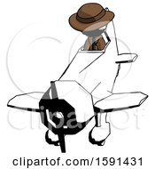 Ink Detective Man In Geebee Stunt Plane Descending Front Angle View