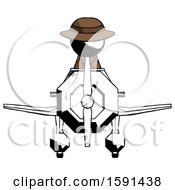 Ink Detective Man In Geebee Stunt Plane Front View