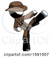 Ink Detective Man Ninja Kick Right