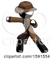 Ink Detective Man Martial Arts Punch Left