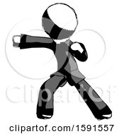 Ink Clergy Man Martial Arts Punch Left