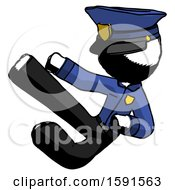 Ink Police Man Flying Ninja Kick Left
