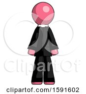 Pink Clergy Man Standing Facing Forward