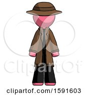 Pink Detective Man Standing Facing Forward