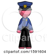 Pink Police Man Standing Facing Forward