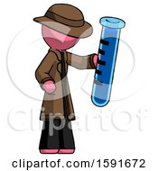 Pink Detective Man Holding Large Test Tube