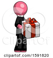 Pink Clergy Man Giving A Present
