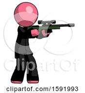 Pink Clergy Man Shooting Sniper Rifle