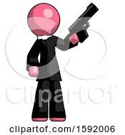 Pink Clergy Man Holding Handgun