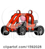 Pink Clergy Man Riding Sports Buggy Side Angle View