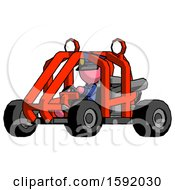 Pink Police Man Riding Sports Buggy Side Angle View