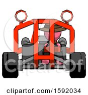 Pink Detective Man Riding Sports Buggy Front View
