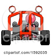 Pink Clergy Man Riding Sports Buggy Front View
