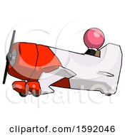Pink Clergy Man In Geebee Stunt Aircraft Side View