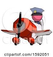 Pink Police Man Flying In Geebee Stunt Plane Viewed From Below