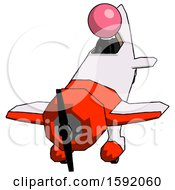 Pink Clergy Man In Geebee Stunt Plane Descending Front Angle View