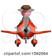 Pink Detective Man In Geebee Stunt Plane Front View