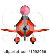 Pink Clergy Man In Geebee Stunt Plane Front View