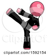 Pink Clergy Man Ninja Kick Left