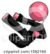 Pink Clergy Man Flying Ninja Kick Left