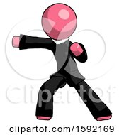 Pink Clergy Man Martial Arts Punch Left