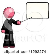 Pink Clergy Man Giving Presentation In Front Of Dry Erase Board