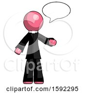 Pink Clergy Man With Word Bubble Talking Chat Icon