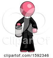 Pink Clergy Man Begger Holding Can Begging Or Asking For Charity