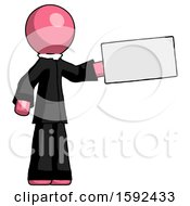 Pink Clergy Man Holding Large Envelope