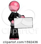 Pink Clergy Man Presenting Large Envelope