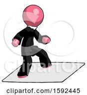 Pink Clergy Man On Postage Envelope Surfing
